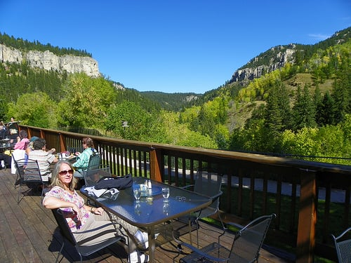 Latchstring restaurant patio part of spearfish canyon for Spearfish motors spearfish sd