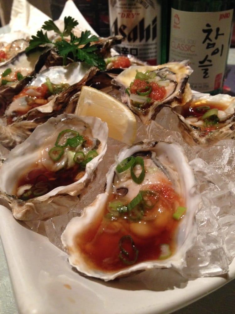 Fresh oysters yelp for Akasaka japanese cuisine