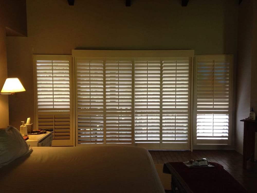 plantation shutters on sliding glass door louvers tilted yelp. Black Bedroom Furniture Sets. Home Design Ideas