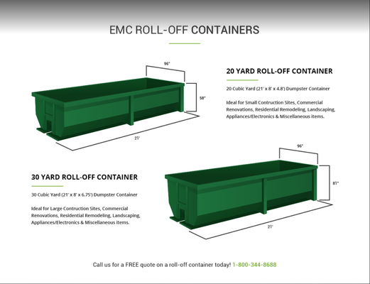 EMC Rolloff And Dumpster Get Quote Dumpster Rental Miami FL Gorgeous Emc Quote