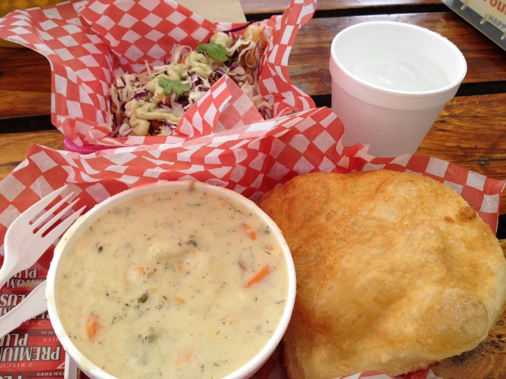 Fish taco and clam chowder yum yelp for Fish daddy s menu