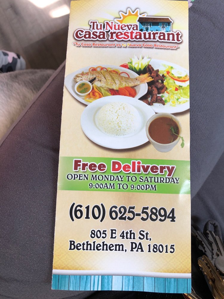 Tu Nueva Casa Restaurant: 805 E 4th St, Bethlehem, PA