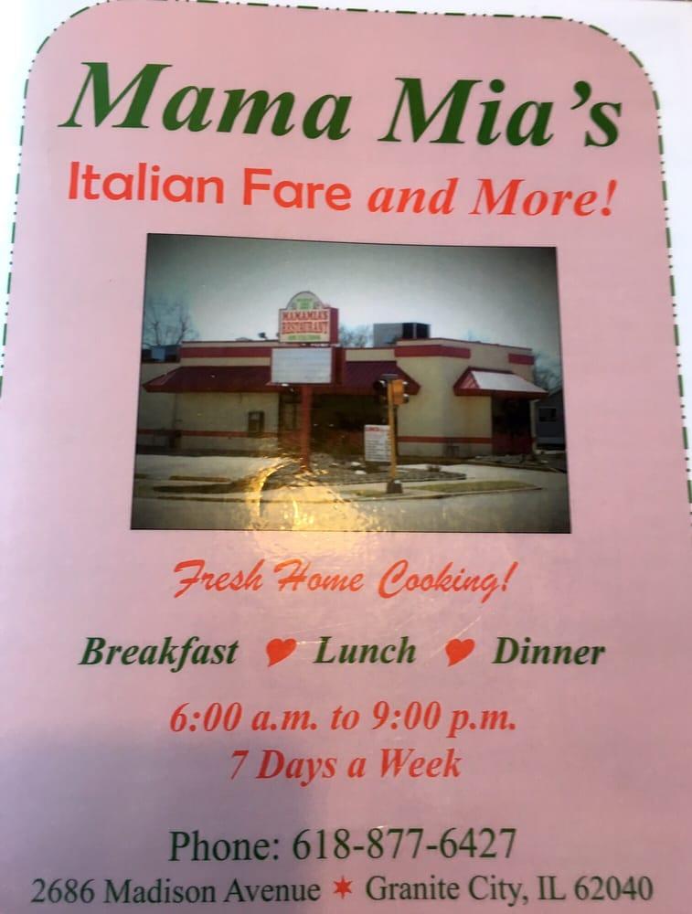 Mama Mia S Italian Restaurant Granite City Il
