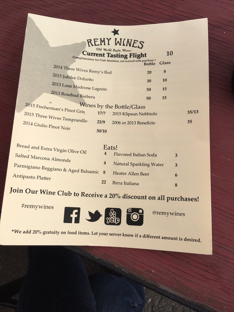 Social Spots from Remy Wines