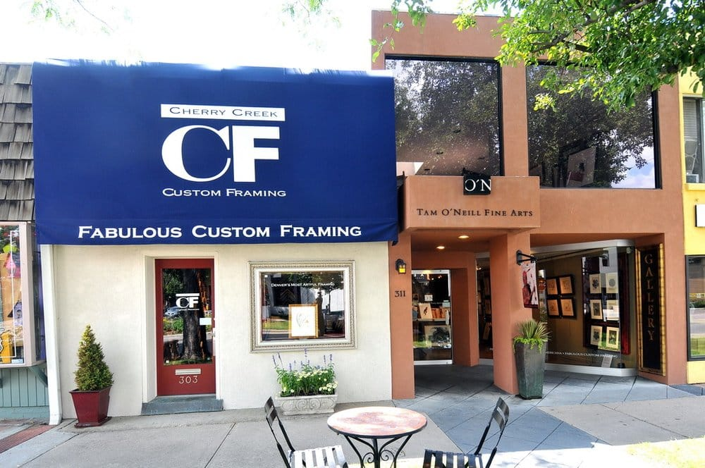 Grapes and Galleries fundraiser party at Cherry Creek Custom Framing ...