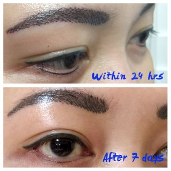 Gold permanent makeup 45 photos 24 reviews tattoo for Japanese tattoo eyeliner