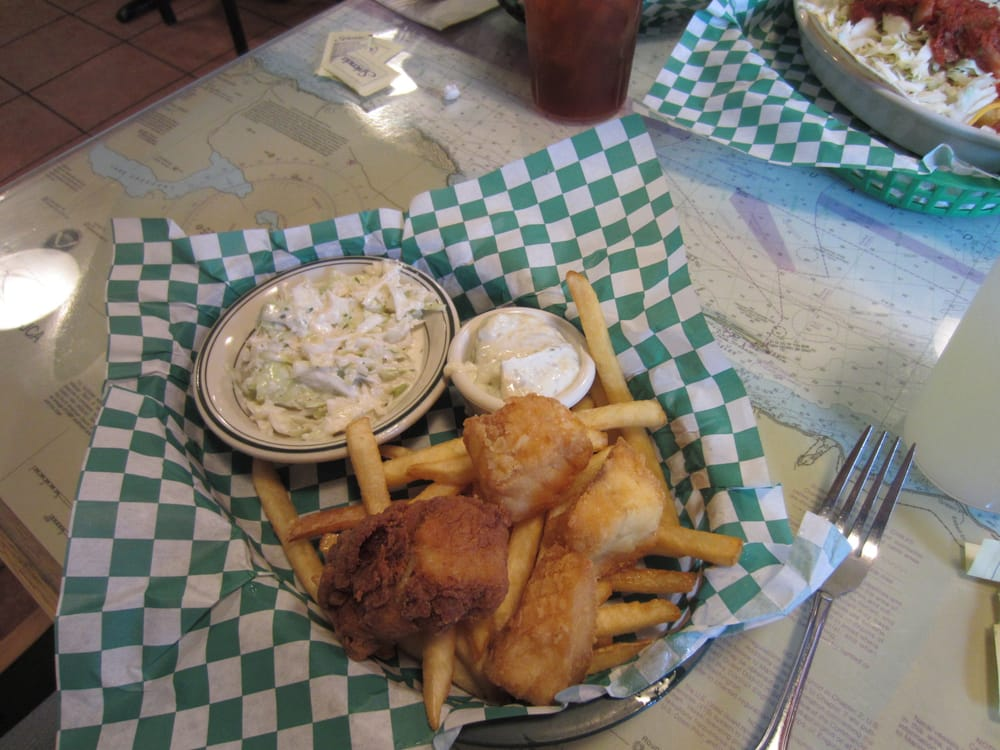 Lunch special cod fish and chips regular slaw regular for Hawthorne fish house