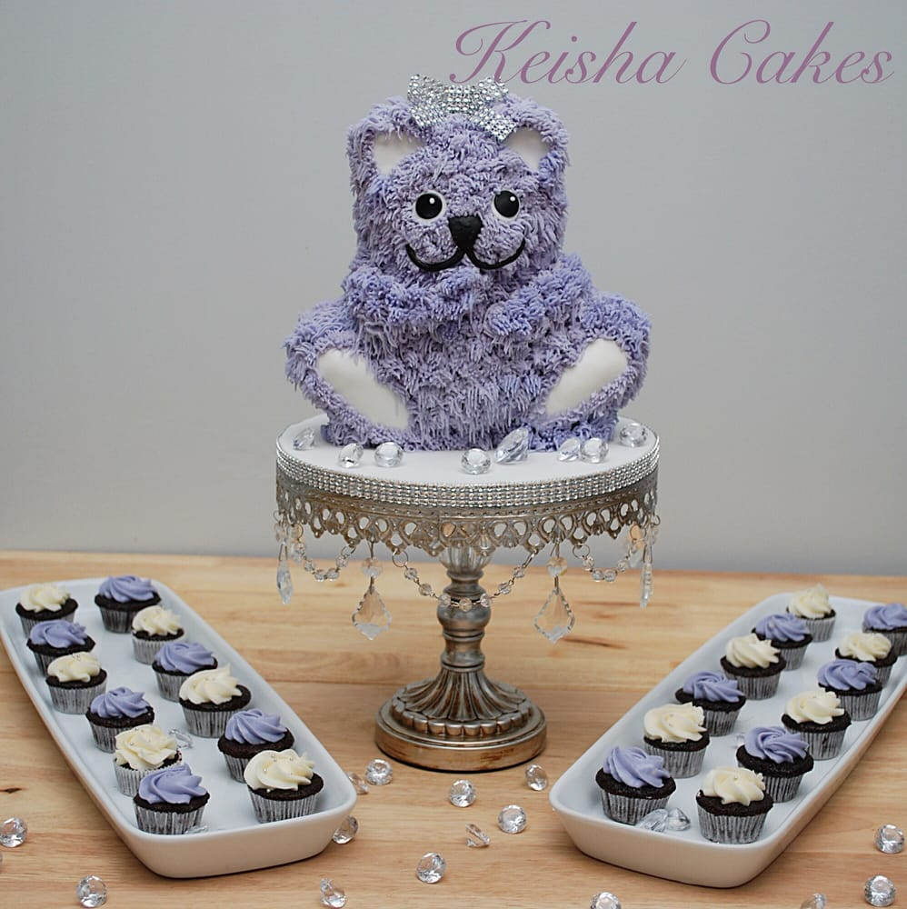 Lavender Teddy Bear Baby Shower Cake And Cupcakes Yelp