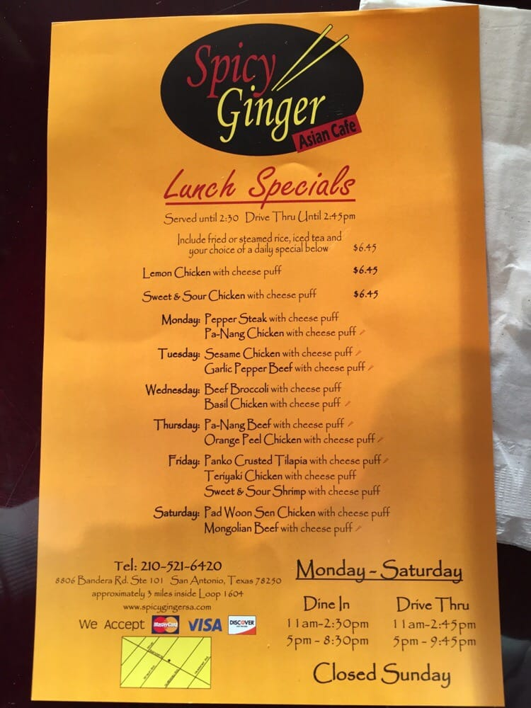 Spicy Ginger Asian Cafe 56