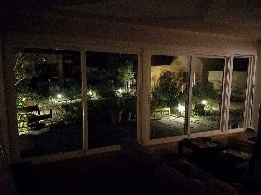 Finished Patio Door And Fixed Picture Window How The Back Yard And