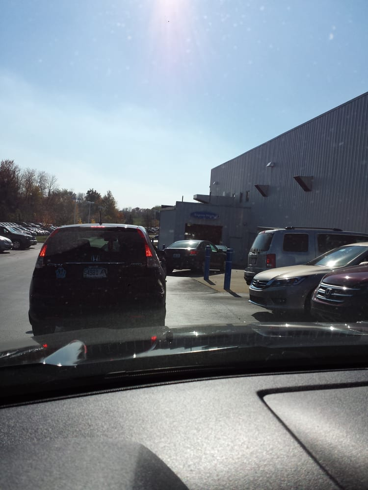 Jeff Wyler Honda >> Waiting in line for a wash!! - Yelp
