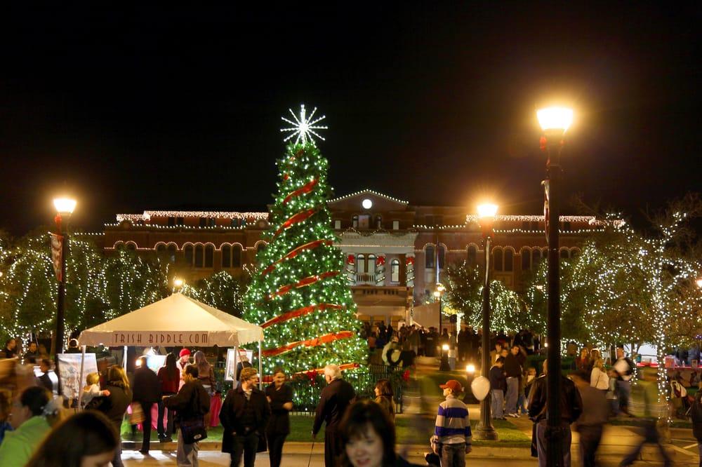 Photo of Southlake Town Square - Southlake, TX, United States. Christmas at  Southlake