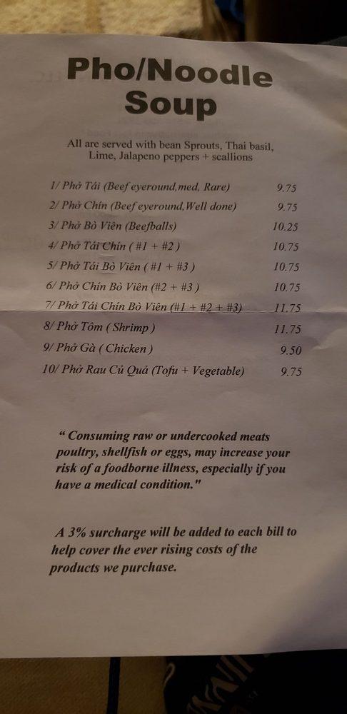 Pho Vietnam Restaurant: 717 Washington St, Huntingdon, PA