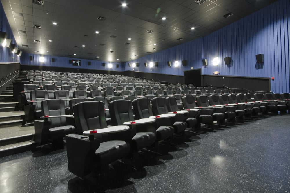 SMG Auditorium Featuring Premium Seating And Table Surface With Service Butto