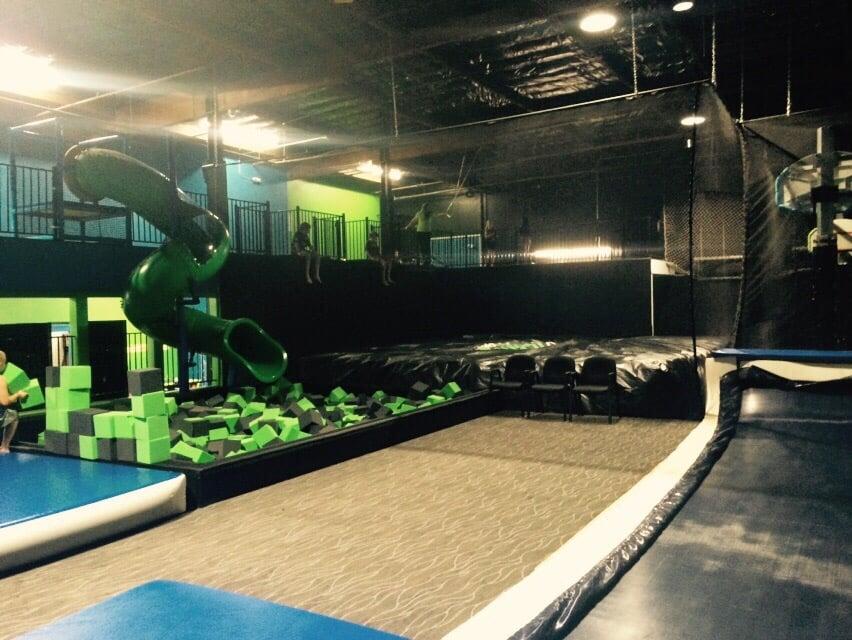 foam pit slide