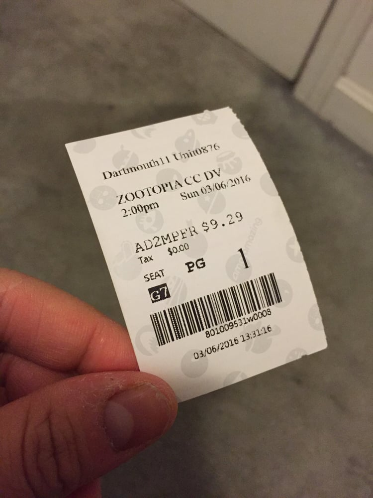 picture about Amc Printable Tickets called This is what a revealed ticket appears to be like which include towards an optimized