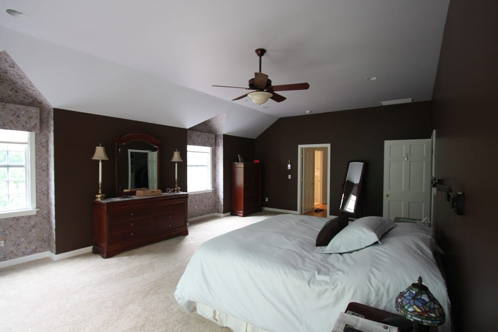 Master Bedroom Suite Elevated Ceiling Height Bump Out Dormers Ceiling Fan And Plenty Of