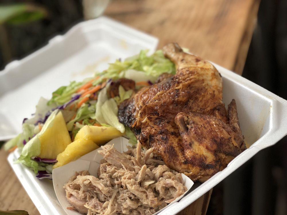 Mike's Huli Chicken: 56-565 Kamehameha Hwy, Kahuku, HI