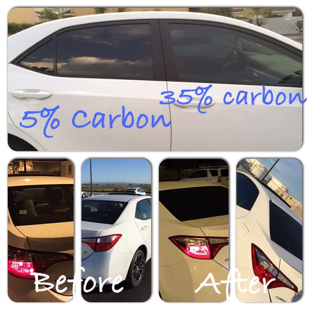Carbon film tint 35 on driver and passenger windows 5 for 2 5 window tint