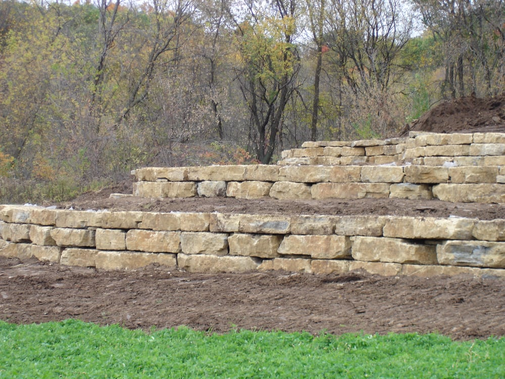 Limestone retaining wall yelp Wall pictures