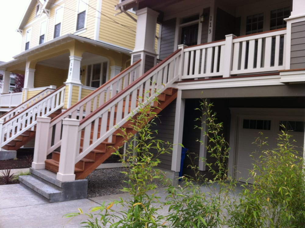 Hardwood decking cedar railing yelp for Nw construction