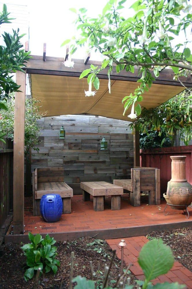 Redwood Patio Furniture Home Depot: Brick Patio, Recycled Redwood Furniture, Weatherproof