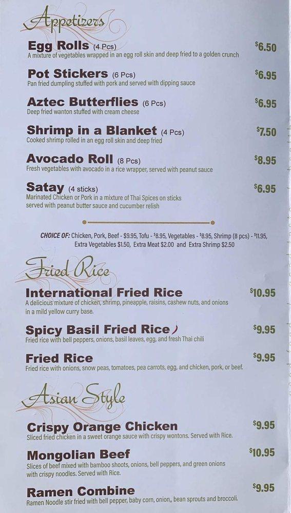 Manna Thai Kitchen: 104 S Main Ave, Aztec, NM