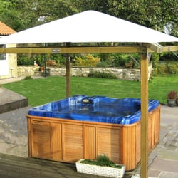 Jacuzzi hot tub centre pool hot tub shenstone garden for Hot tub shelters