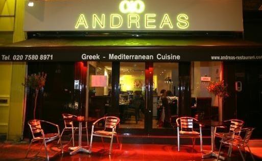 Andreas Restaurant Charlotte Street