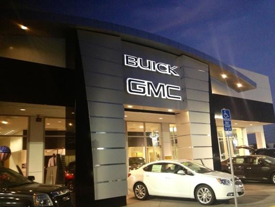 Beautiful new gmc buick store on auto mall fremont yelp for Fremont motors service department