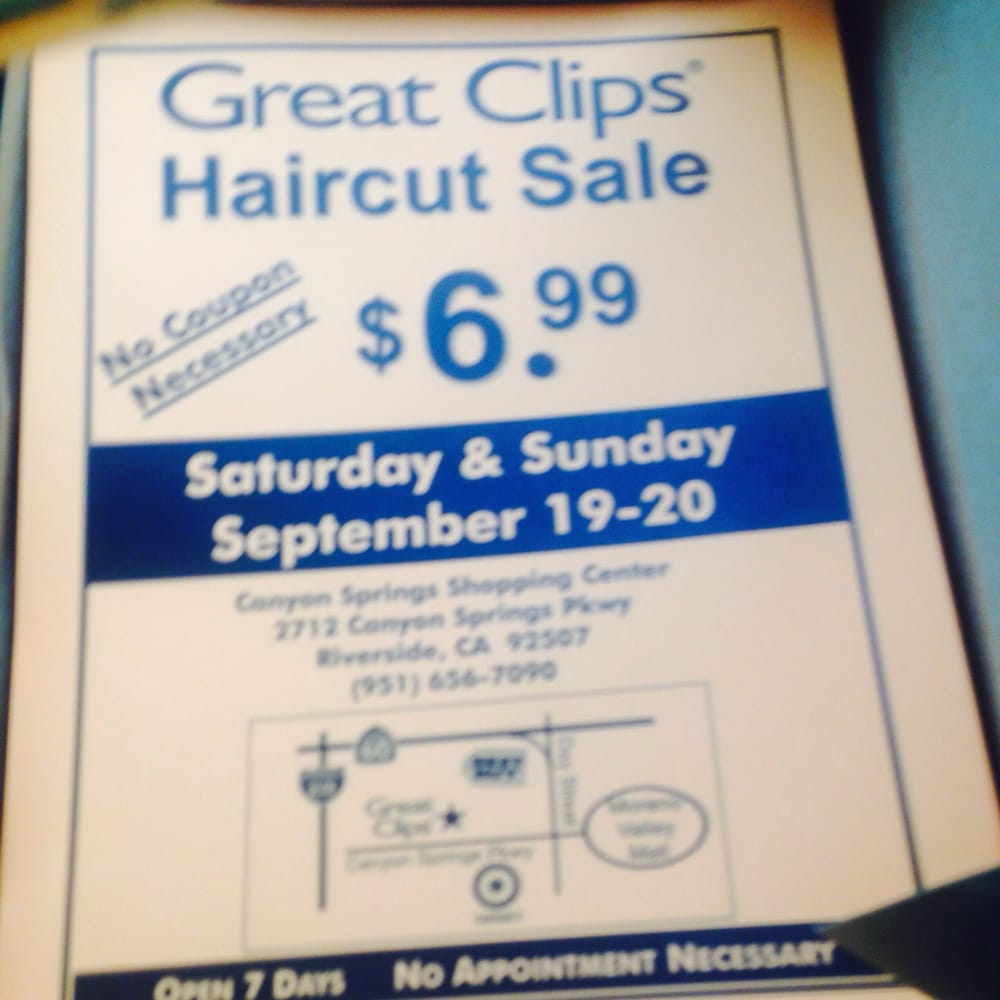 Back By Popular Demand Great Clips 699 Haircut Sale This Weekend