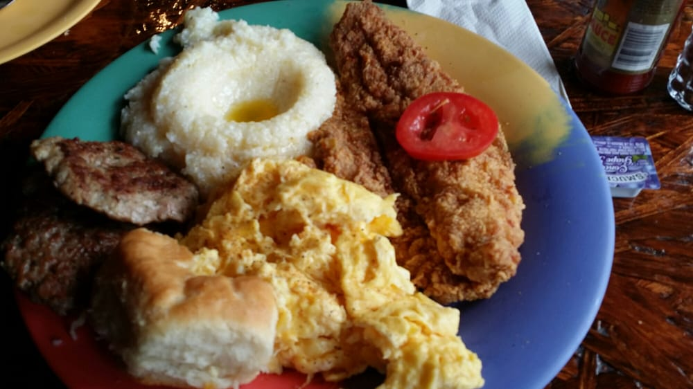 Fish and grits oh my bajeezzyy wit homemade sausage for Fish and grits near me