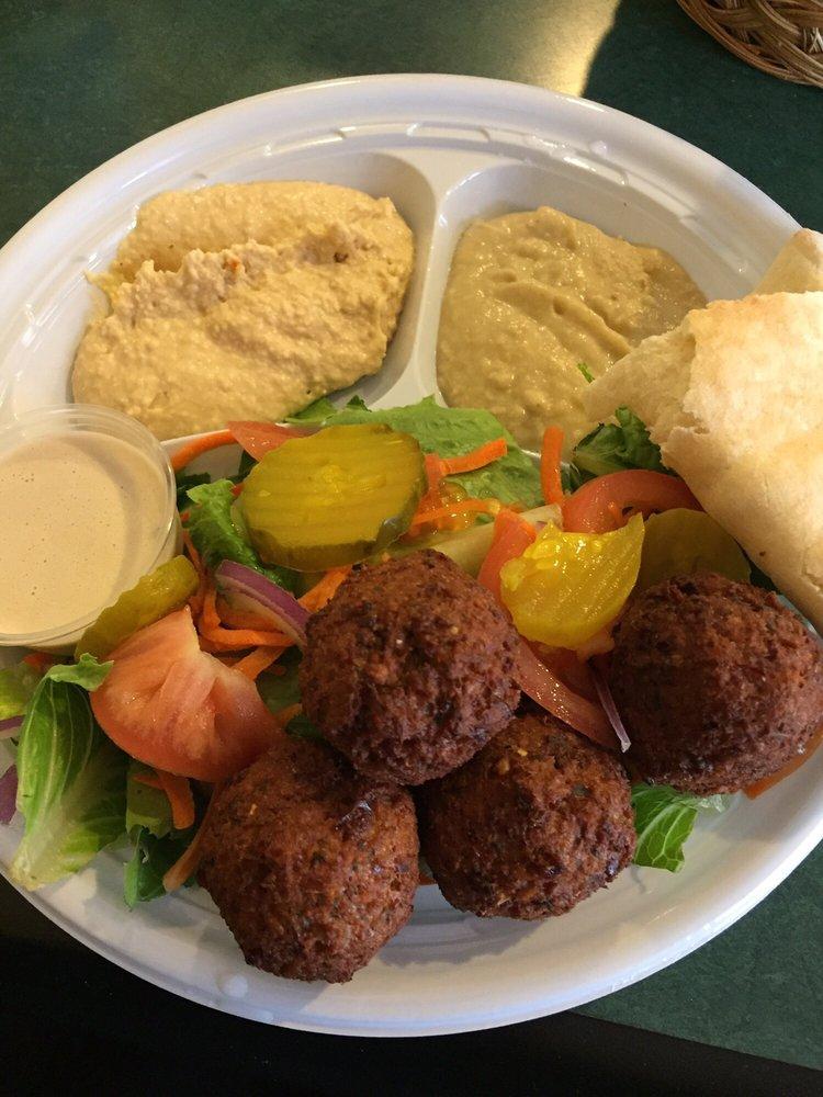Food from Jake's Falafel Corner
