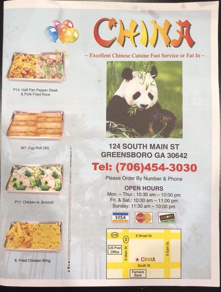 China: 124 S Main St, Greensboro, GA