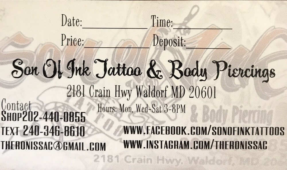 Son of Ink: 2181 Crain Hwy, Waldorf, MD