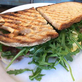 Fried egg sandwich: arugula, eggs, aioli and excellent bacon. A simple ...