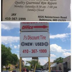 J S Discount Tire 13 Photos Tires 4026 Reisterstown Rd