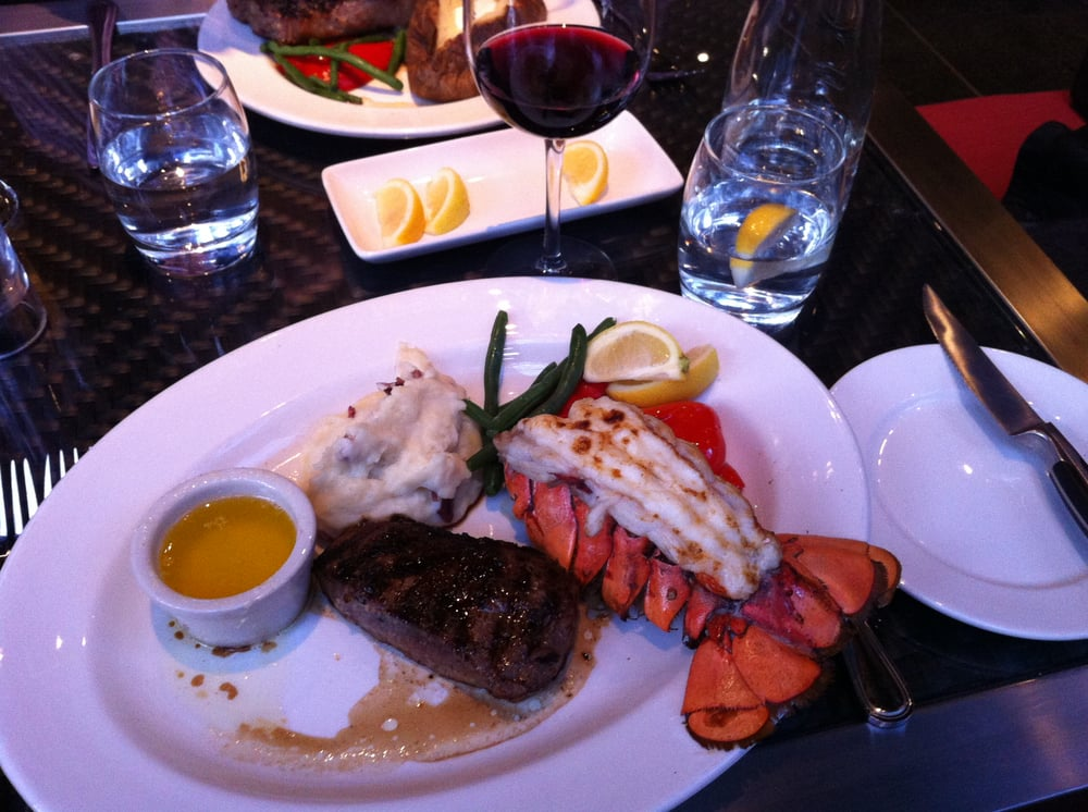 Top Sirloin & Atlantic Lobster Tail with Garlic Mashed ...