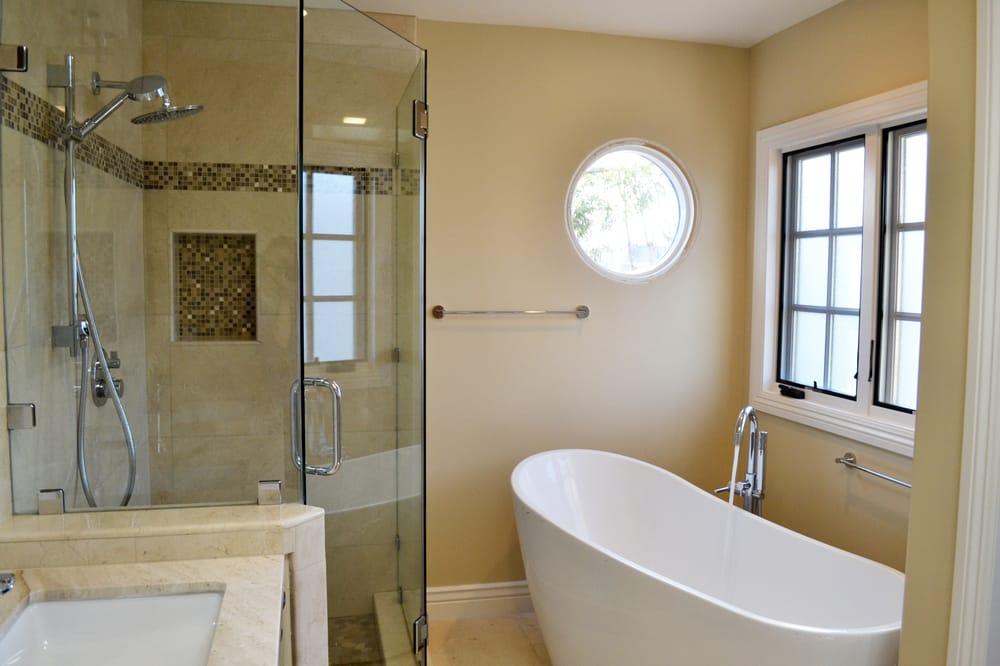 Bathroom view of free standing bathtub yelp - Kitchen and bath design center san jose ...