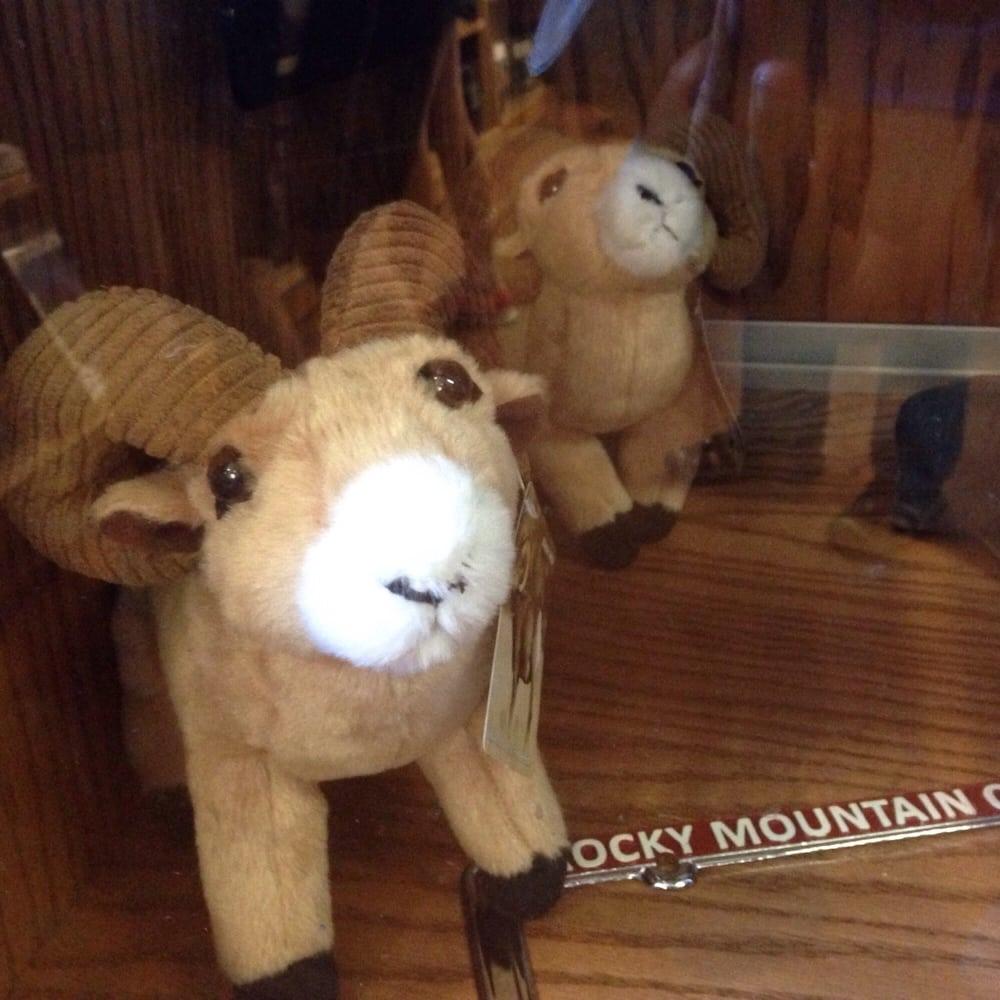 Adorable Plush Bighorn Sheep Plush Animals At The Gift Shop Portion