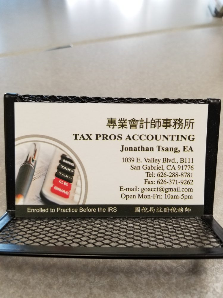 Tax Pros Accounting Tax Services 1039 E Valley Blvd San Gabriel