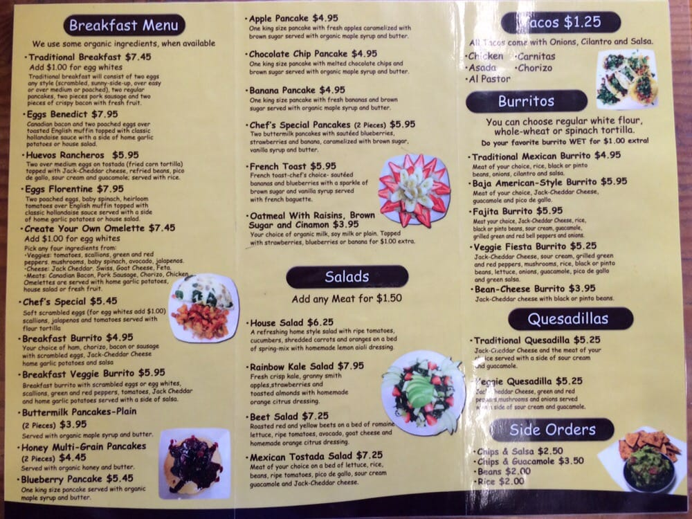 Cafe Vidal Glendale Ca Menu