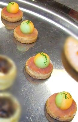 Melon prosciutto canapes yelp for Prosciutto canape