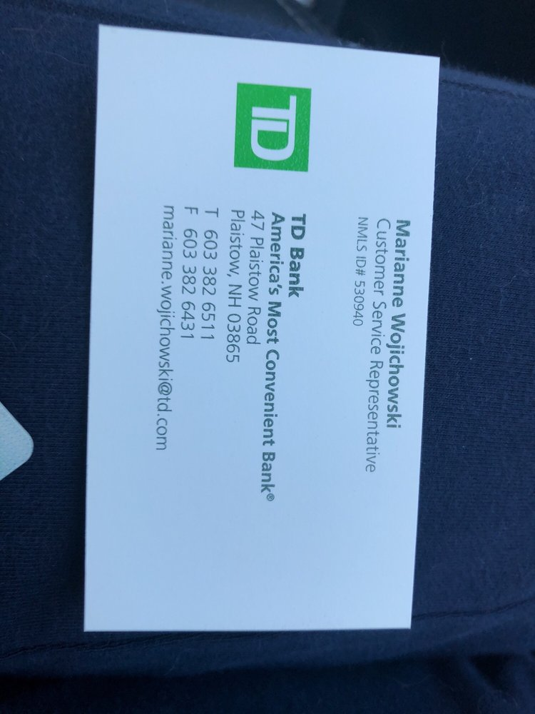TD Bank - Banks & Credit Unions - 47 Plaistow Rd, Plaistow, NH