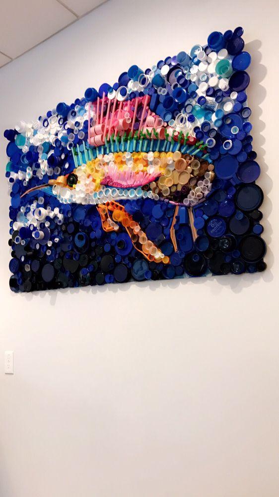 Cool plastic wall art - Yelp