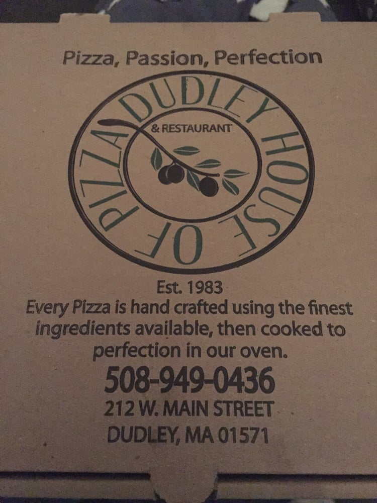 Food from Dudley House of Pizza
