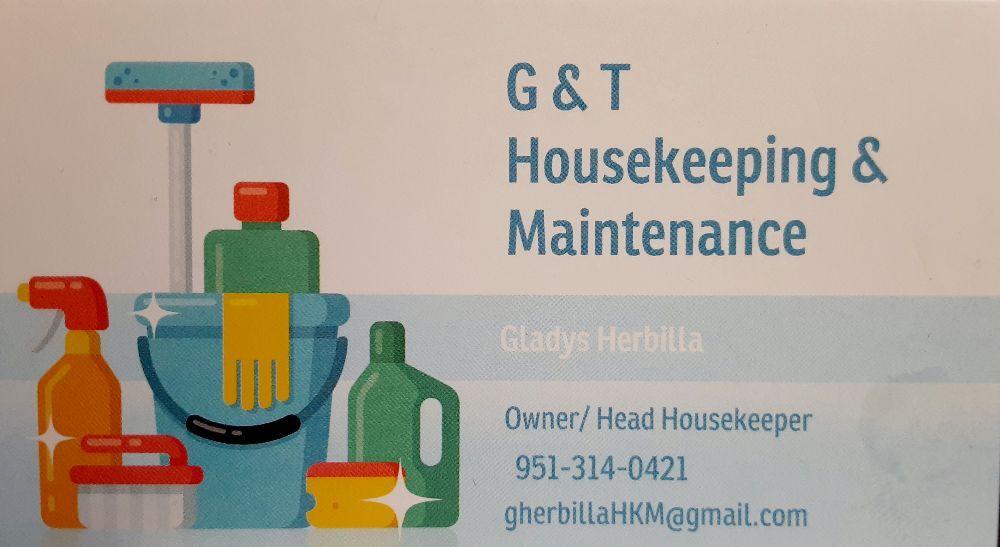G & T Housekeeping & Maintenance: Big Bear, CA
