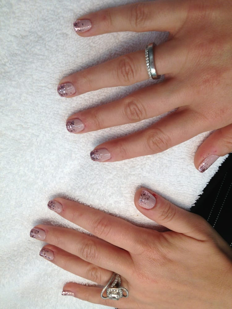 I love this cool ombré nails (new fading design style). At French ...