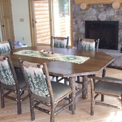 Hickory Dining Room Set Photo Of Cozy Cabin Rustics