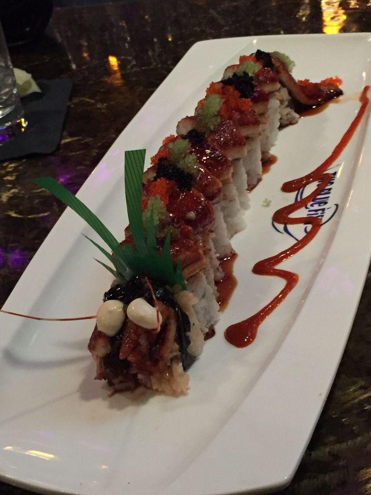 Super dragon roll yelp for Blue fish dallas